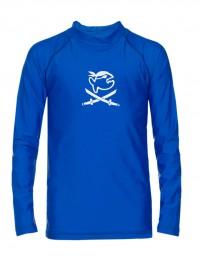 IQ UV Langarm Shirt Lycra Kinder UV Schutzkleidung blau Pirat