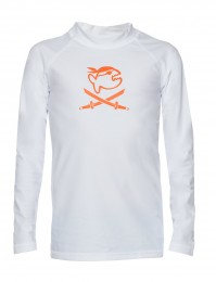 IQ UV Langarm Shirt Lycra Kinder UV Schutzkleidung weiss Piral